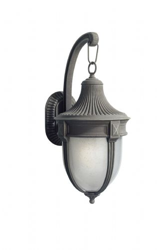 Richmond 1-light Large Black/Gold Outdoor Wall Light (Double Insulated) BXRIC1535-17